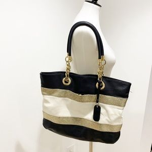 Cynthia Rowley Large Leather striped shoulder bag